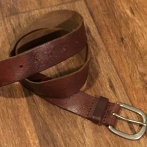 American Eagle Belt Embossed Leather Brown